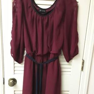 Red Maroon Boho Tie Dress Enfocus L
